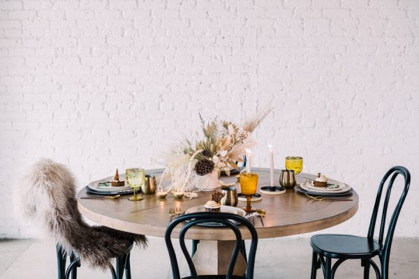 Tablescape by Yonder House, featuring Occasions S'more Cake